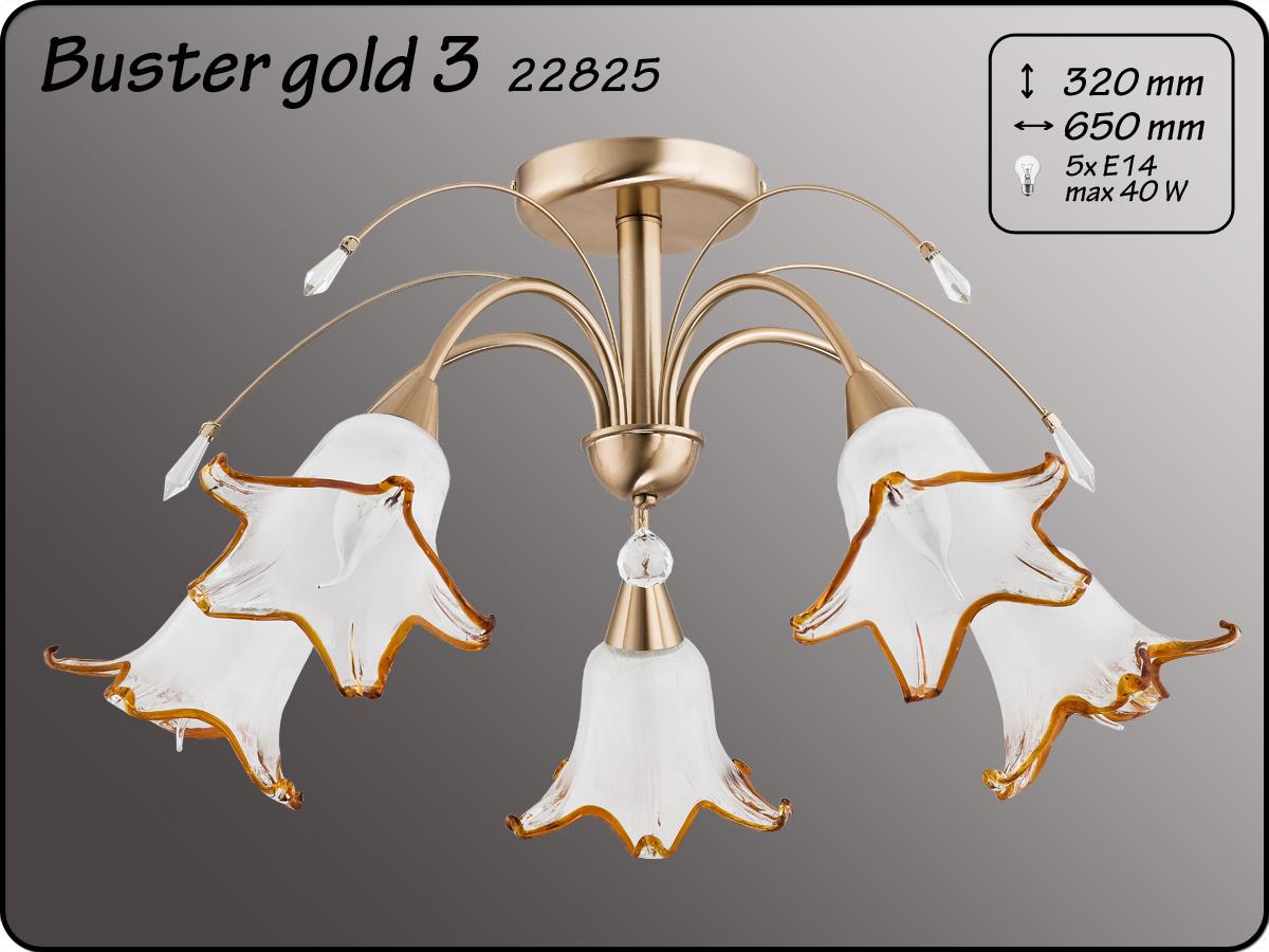 ALFA • BASTER GOLD II, 5 ágú mennyezeti csillár, ALFA