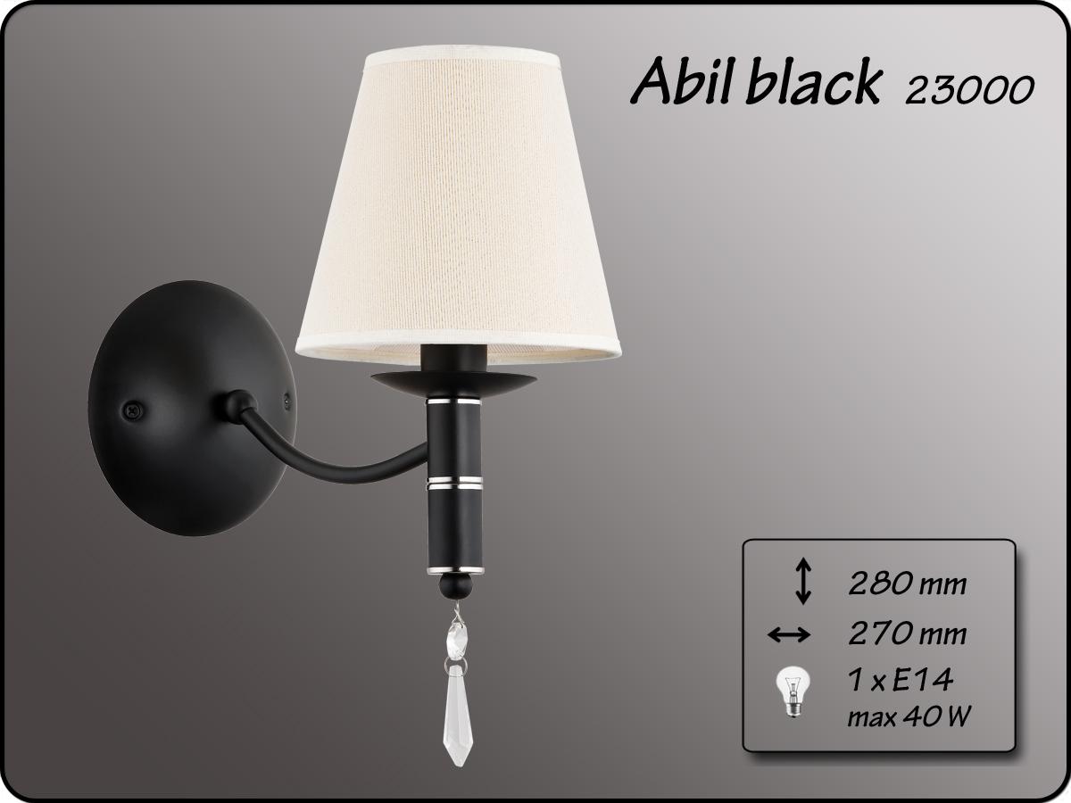 ALFA ABIL BLACK GOLD  KINKIET 1PŁ