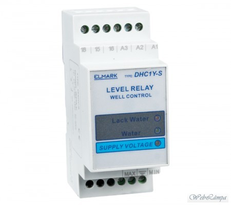 Elmark Villamosság DHC1Y- T DEVICE FOR WATER LEVEL CHECKING AND CONTROL OF TWO PUMPS – 1 CHECKING POINT